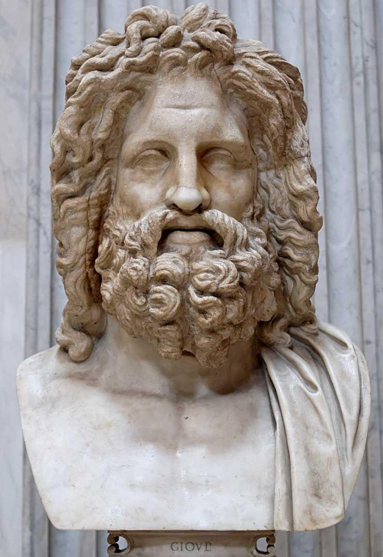 zeus jupiter greek god king of the gods and men greek