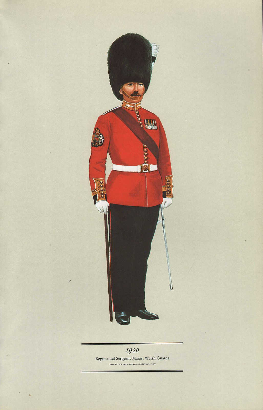Sessel Cassin British Welsh Guards Rsm 1920 Post Napoleon British
