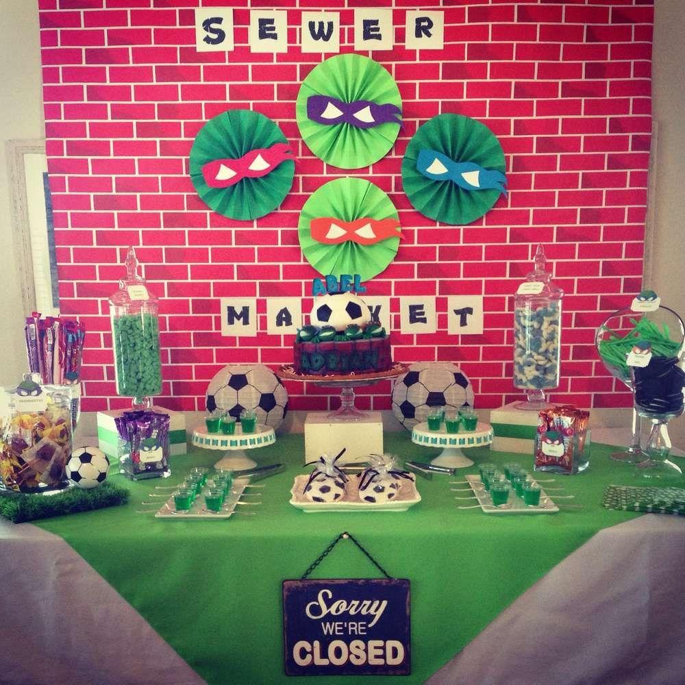 Teenage Mutant Ninja Turtles Birthday Party Ideas | Photo 6 of 9