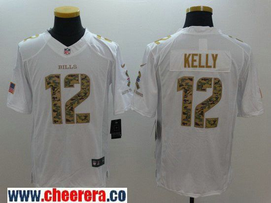 1ed937d2 ... Jerseys Mens Buffalo Bills 12 Jim Kelly Retired White Salute To Service  Stitched NFL Nike Limited ...