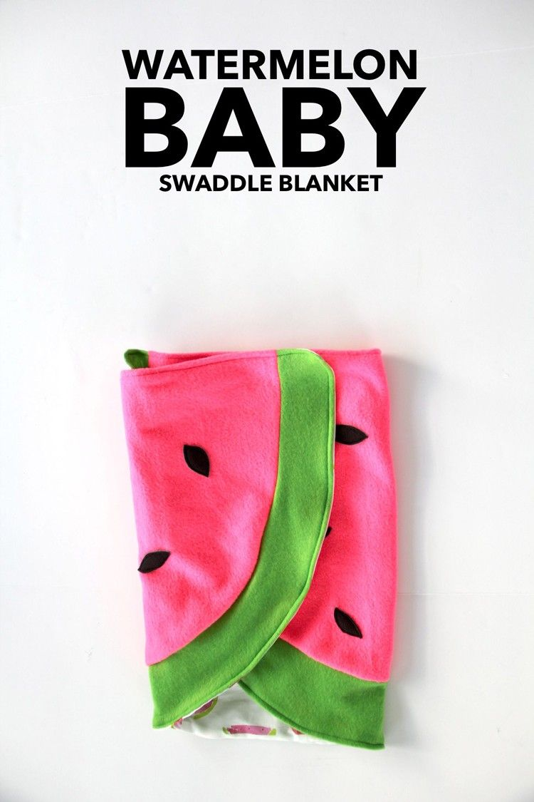Watermelon Baby Blanket DIY - The Sewing Rabbit