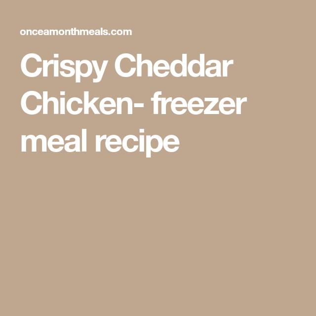 Crispy Cheddar Chicken