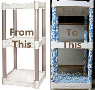 Plastic Shelf Makeover Shelf Makeover Plastic Shelves Plastic Storage Shelves