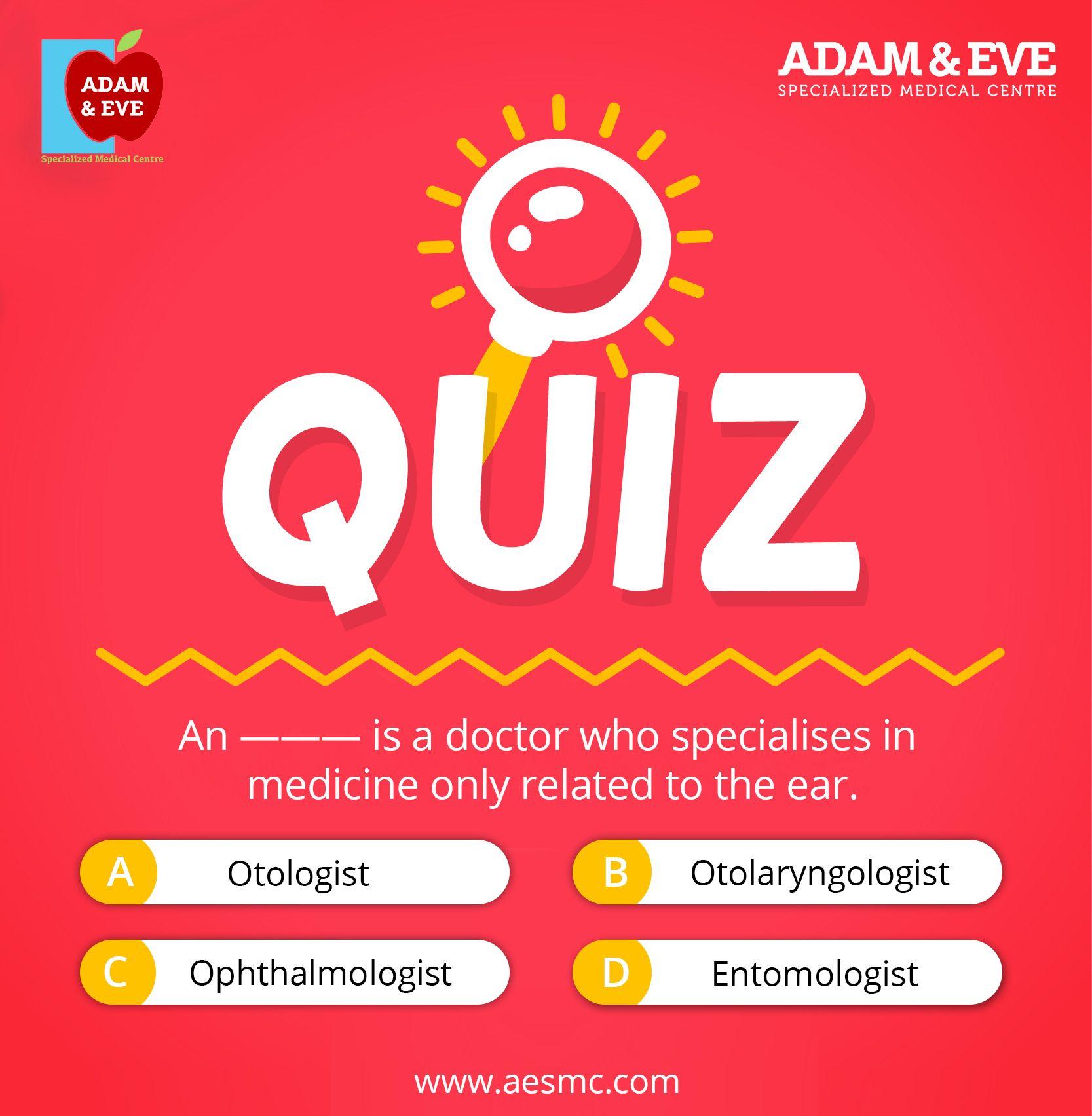 Time to Quiz... ear Quiz puzzle aesmc Medical center
