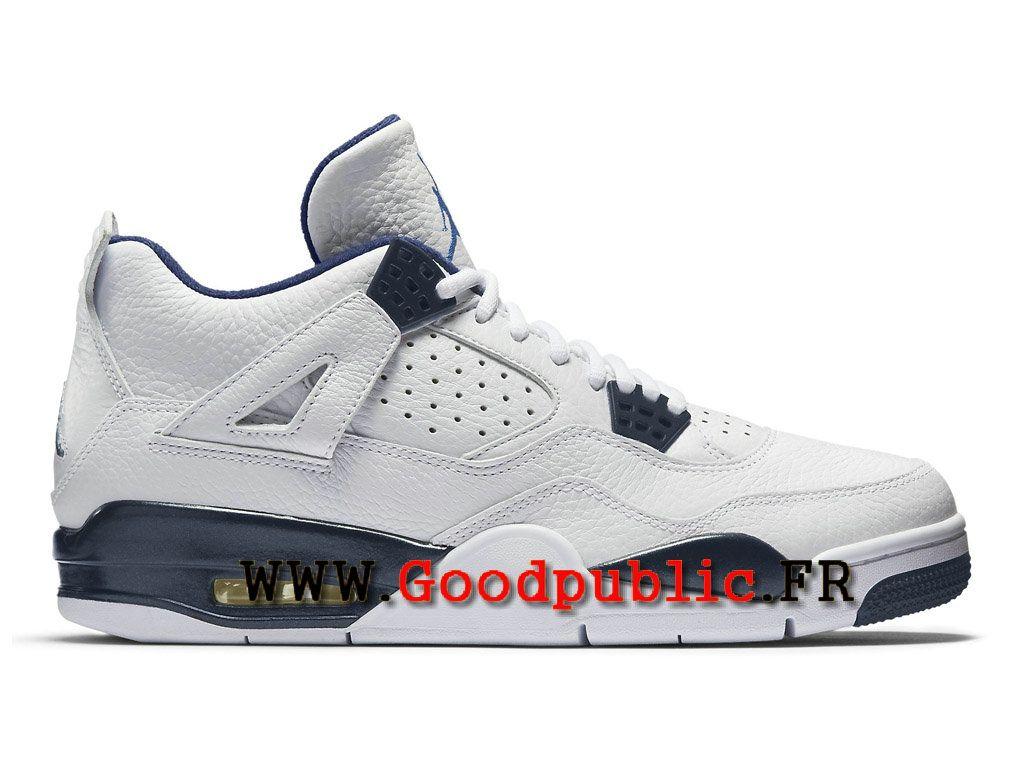 timeless design 4edbf 94348 Air Jordan 4 Officiel pas cher Retro Chaussures pour Homme Legend Blanc  314254 107