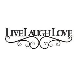 I Love The Diffe Live Laugh Metal Wall Decor Pieces That Are Available From