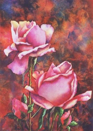"""Daily Paintworks - """"Watercolor Rose Painting"""" - Original Fine Art for Sale - © Alison Fennell"""