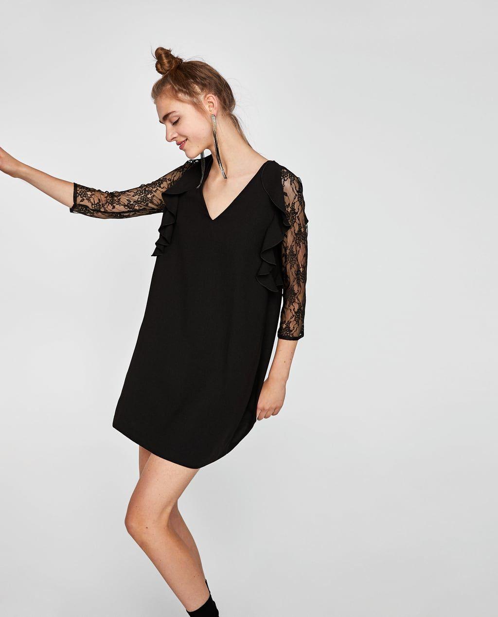 Robe Courtes Zara Femme Robes Assortie Dentelle En France rwfFqzr