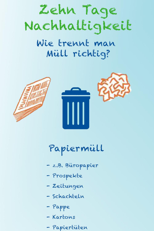 Müll man wie trennt richtig Richtig Müll