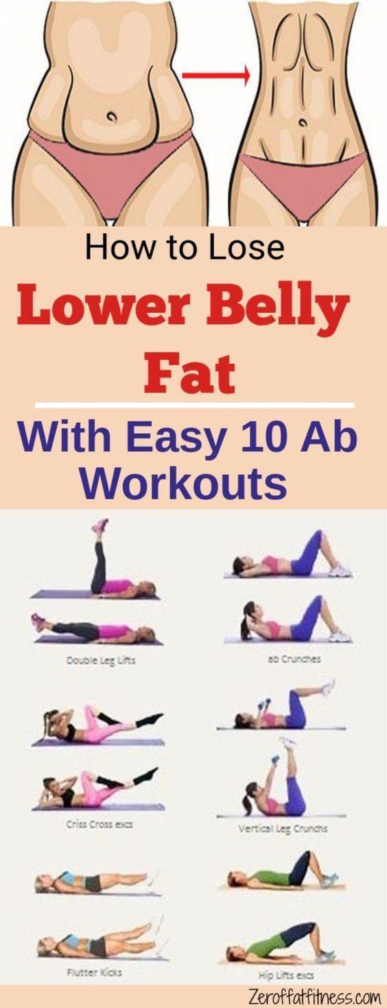 Wie zu verlieren Bauchfett 10 Beste Ab Workouts #diet