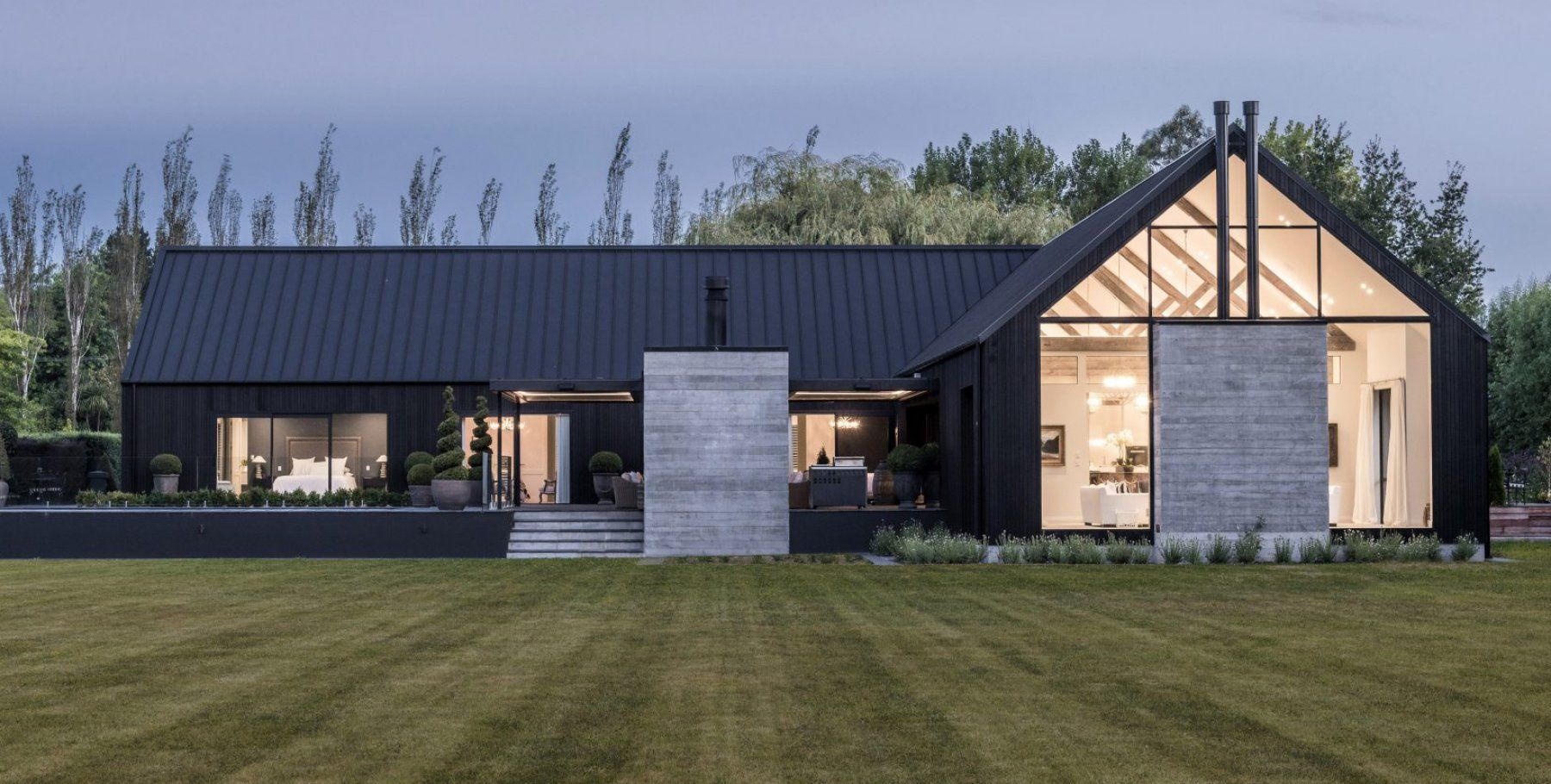 Ohoka House From Archipro Co Nz Barn Style House Modern Barn House Rural House