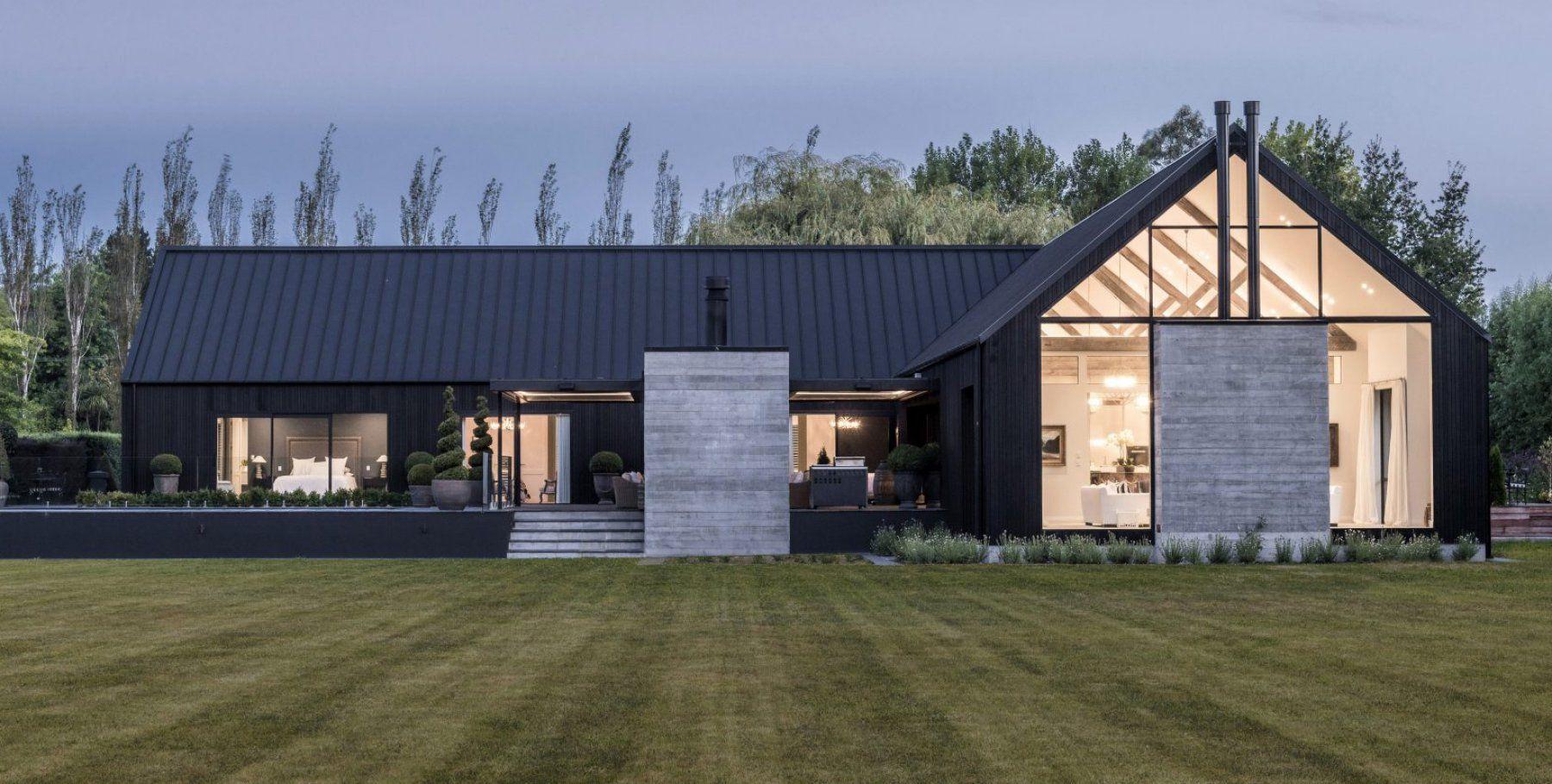 Ohoka House From Archipro Co Nz Barn Style House Modern Barn House Village House Design