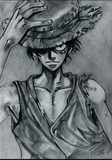 Pencil Drawing Of Luffy One Peice Luffy One Piece Pencil Drawings