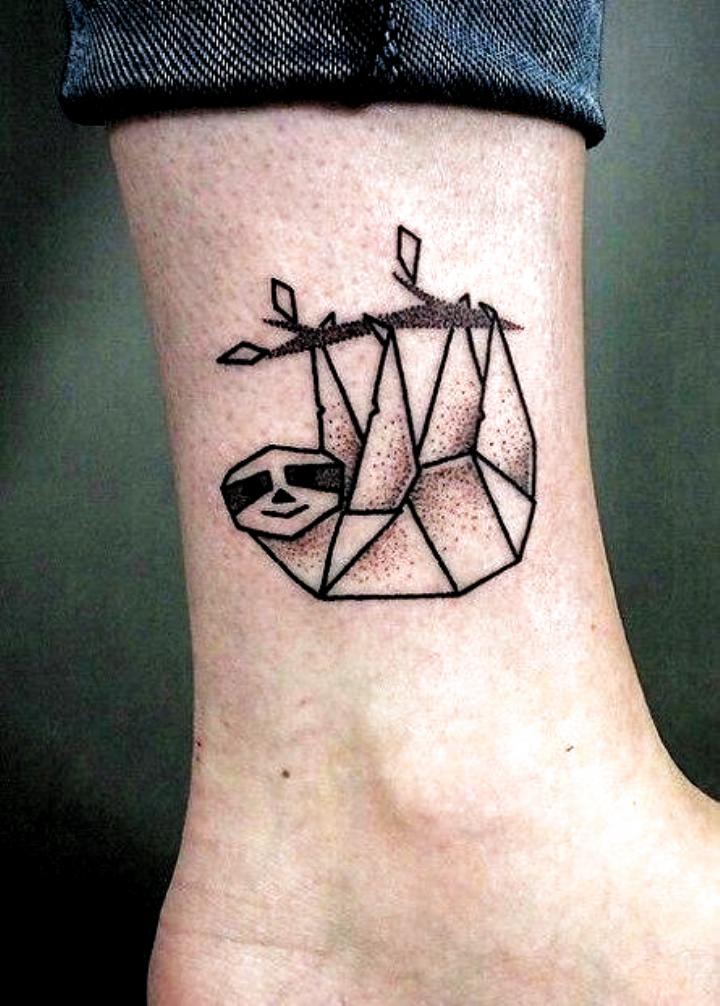 35 Geometric Animal Tattoo Ideas Inspiration Tattoo Ideas Small Simple In 2020 Geometric Animal Tattoo Geometric Tattoo Design Sloth Tattoo