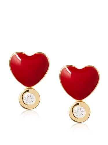 52% OFF Frida Girl CZ Heart Earrings