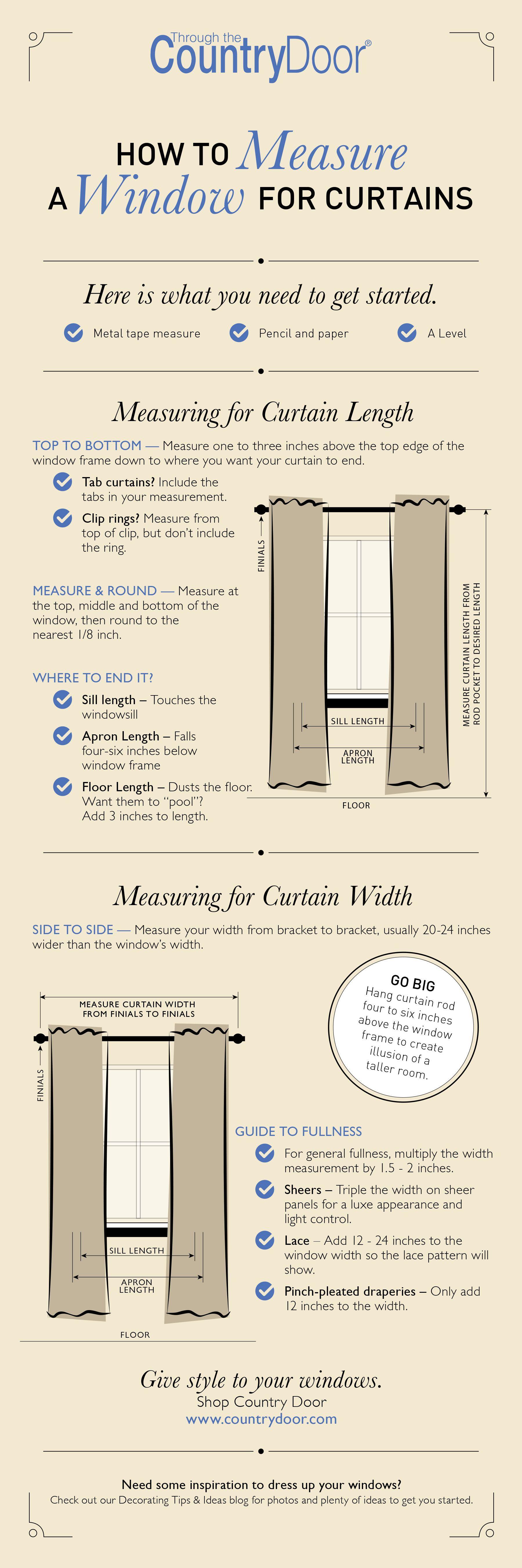 How to Measure a Window for Curtains | Pinterest - Creatief handwerk ...