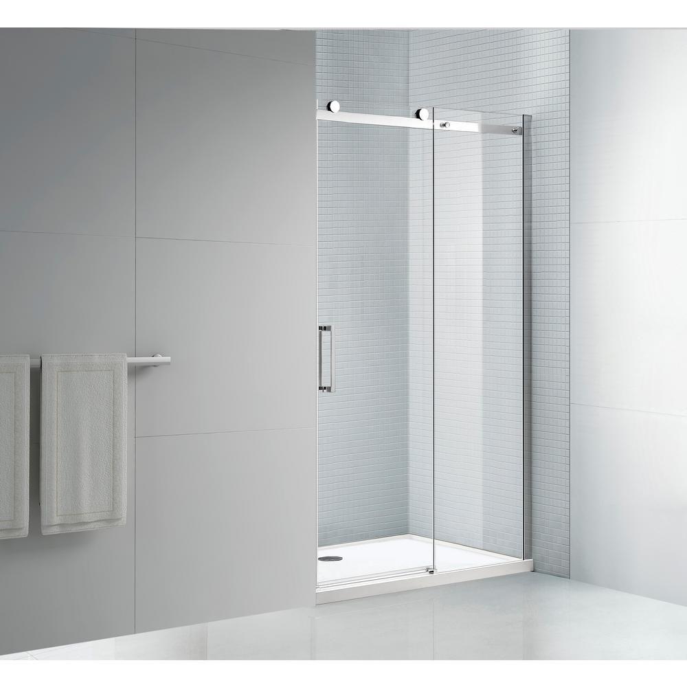 Amluxx Tidy 60 In X 78 In Frameless Sliding Shower Door In
