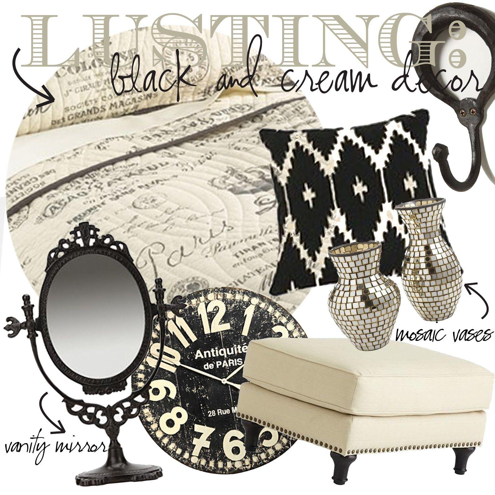 Black cream decor black 39 n white black cream living - Black and cream living room decor ...