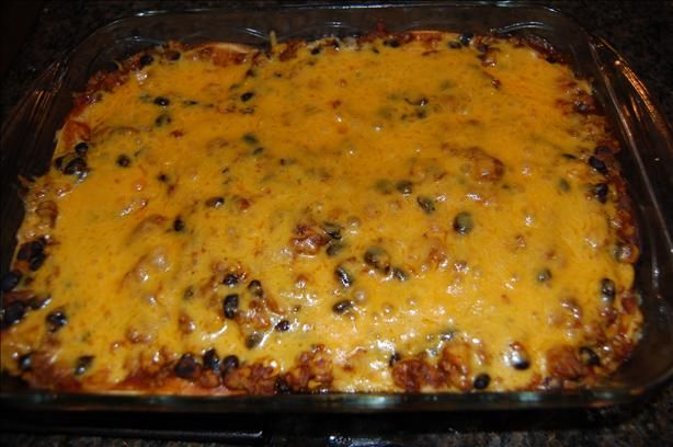 Mexican Ground Beef Tortilla Layer Casserole Recipe Food Com Recipe Recipes Food Tortilla Casserole