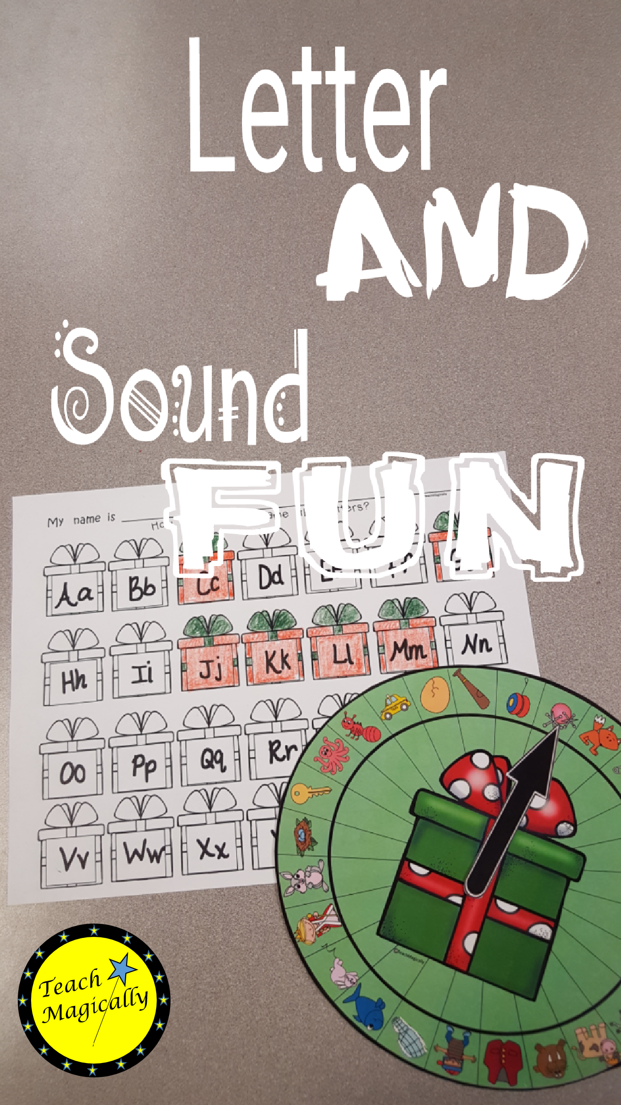 Beginning Sounds Phonemic Awareness Game Christmas Themed