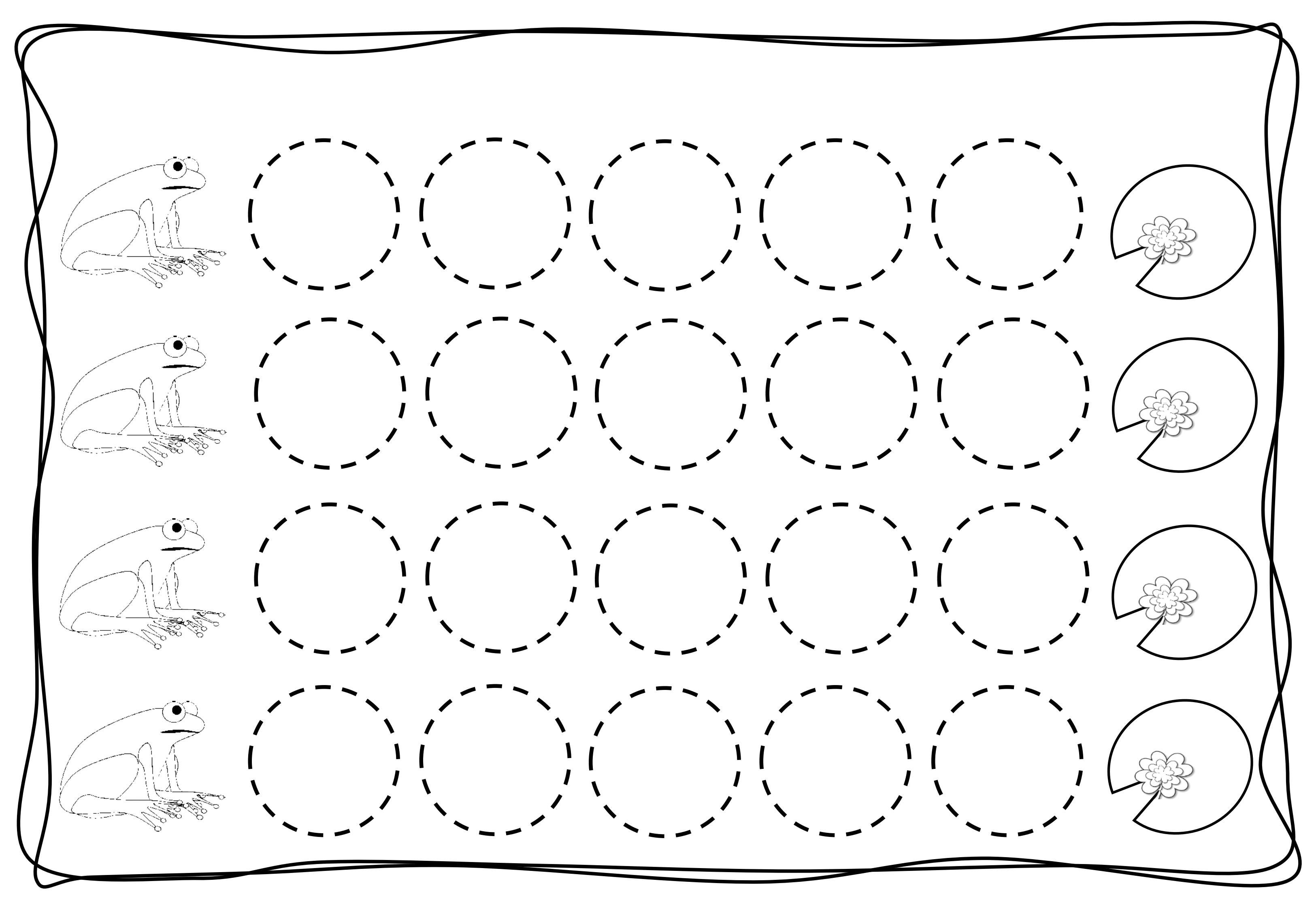 Circles Tracing Worksheets For Kids 2