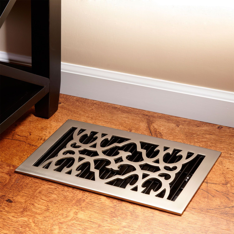 Traditional Br Floor Register Bronze 2 1 4 X 14