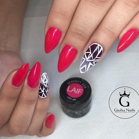 Geometric Nails !  #laif #giulianails