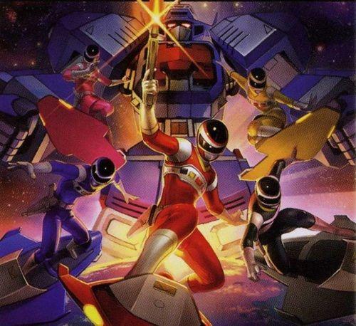 "Mighty Morphin Power Rangers Wallpaper: ""let's Rocket"" - Power Rangers In Space"
