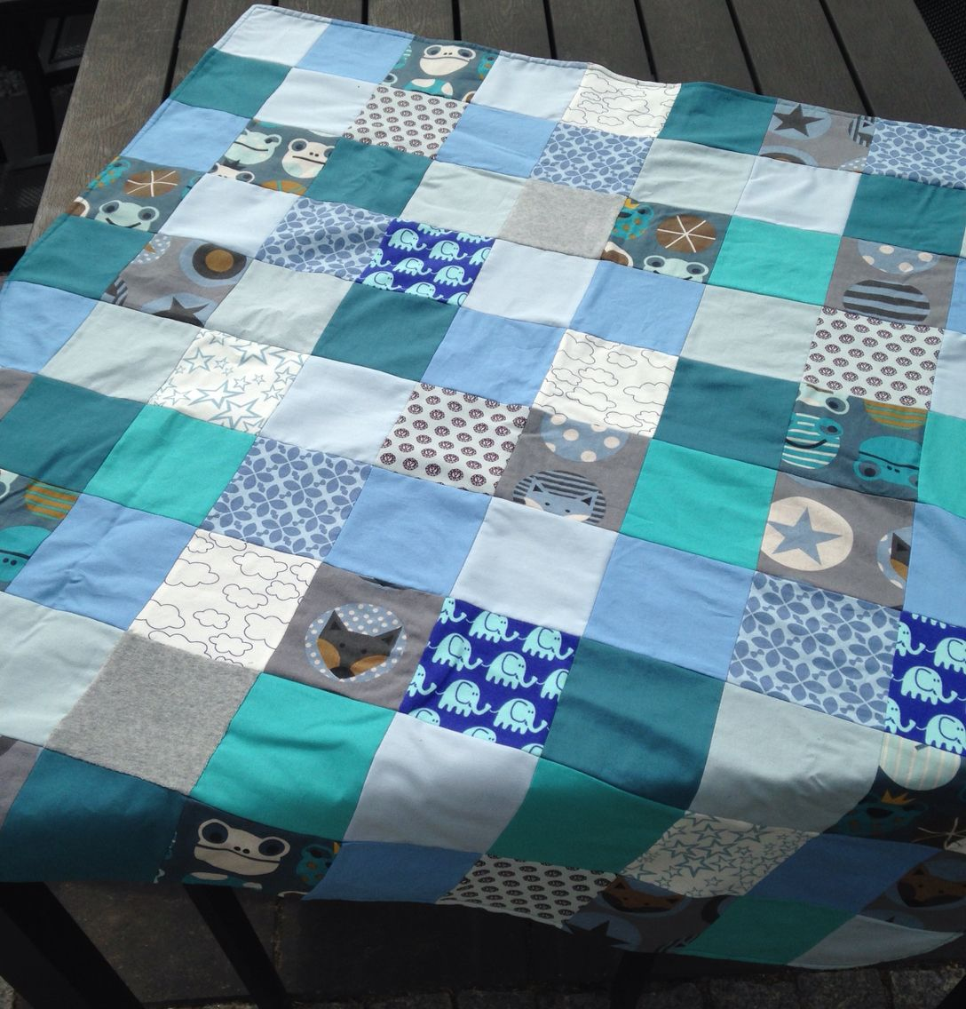 Baby Patchwork Tæppe Patchwork Tæppe Eget Design Decor Blanket Bed