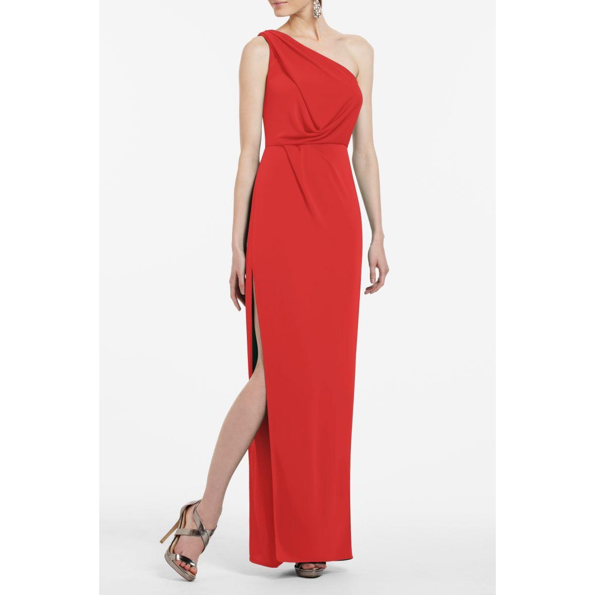 fead3d739f BCBGMAXAZRIA Snejana One-Shoulder Evening Gown (Red Berry ...
