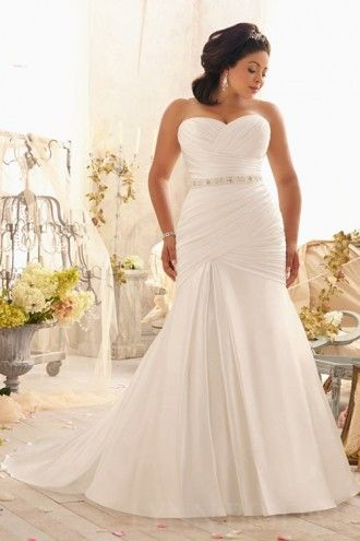 Fit And Flare Crisscross Satin Plus Size Wedding Dress Wedding Dresses Wedding Dresses Satin Beautiful Wedding Dresses