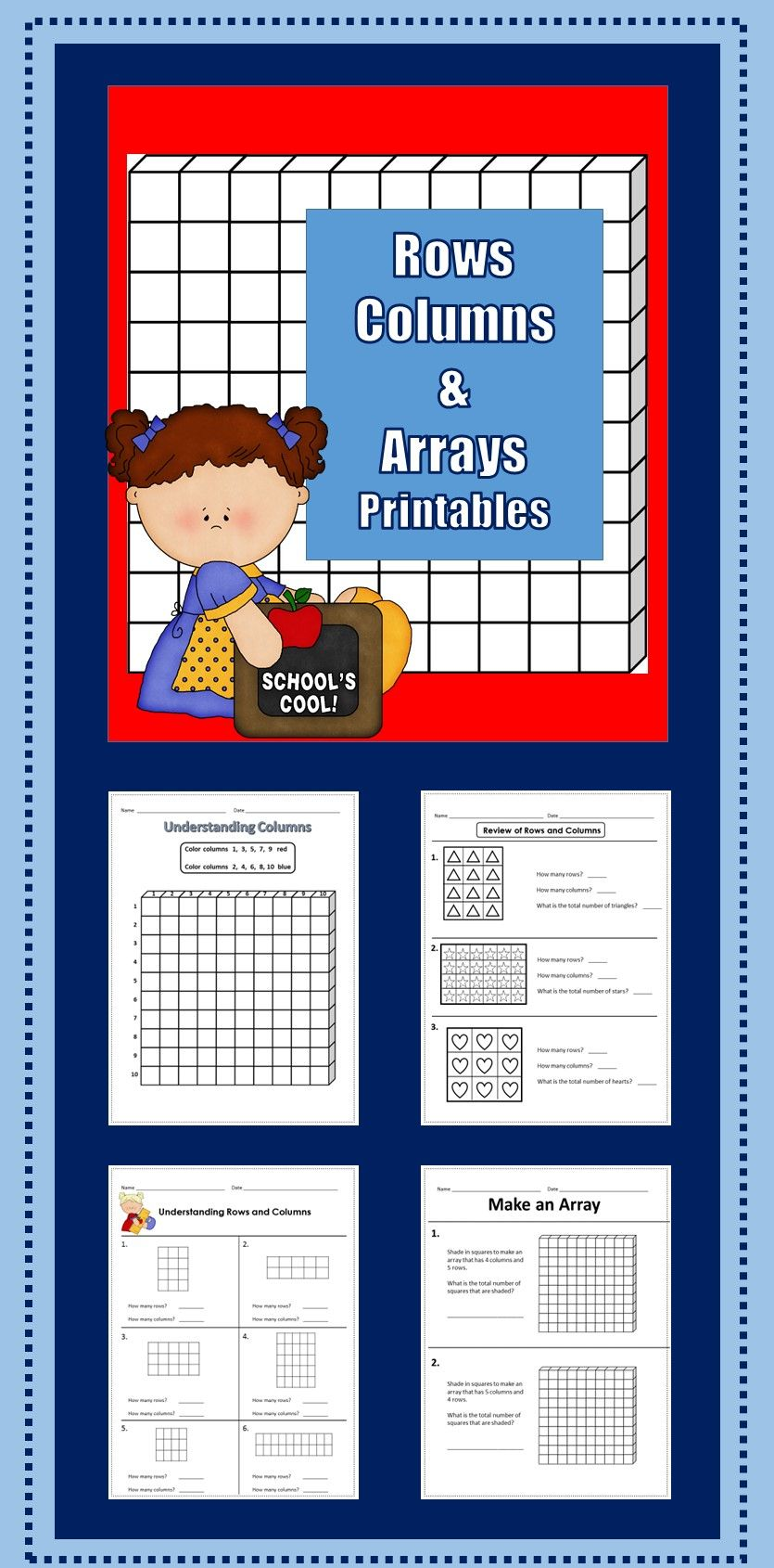 Arrays Kindergarten Math Worksheets Addition 2nd Grade Math Worksheets Free Math Lessons