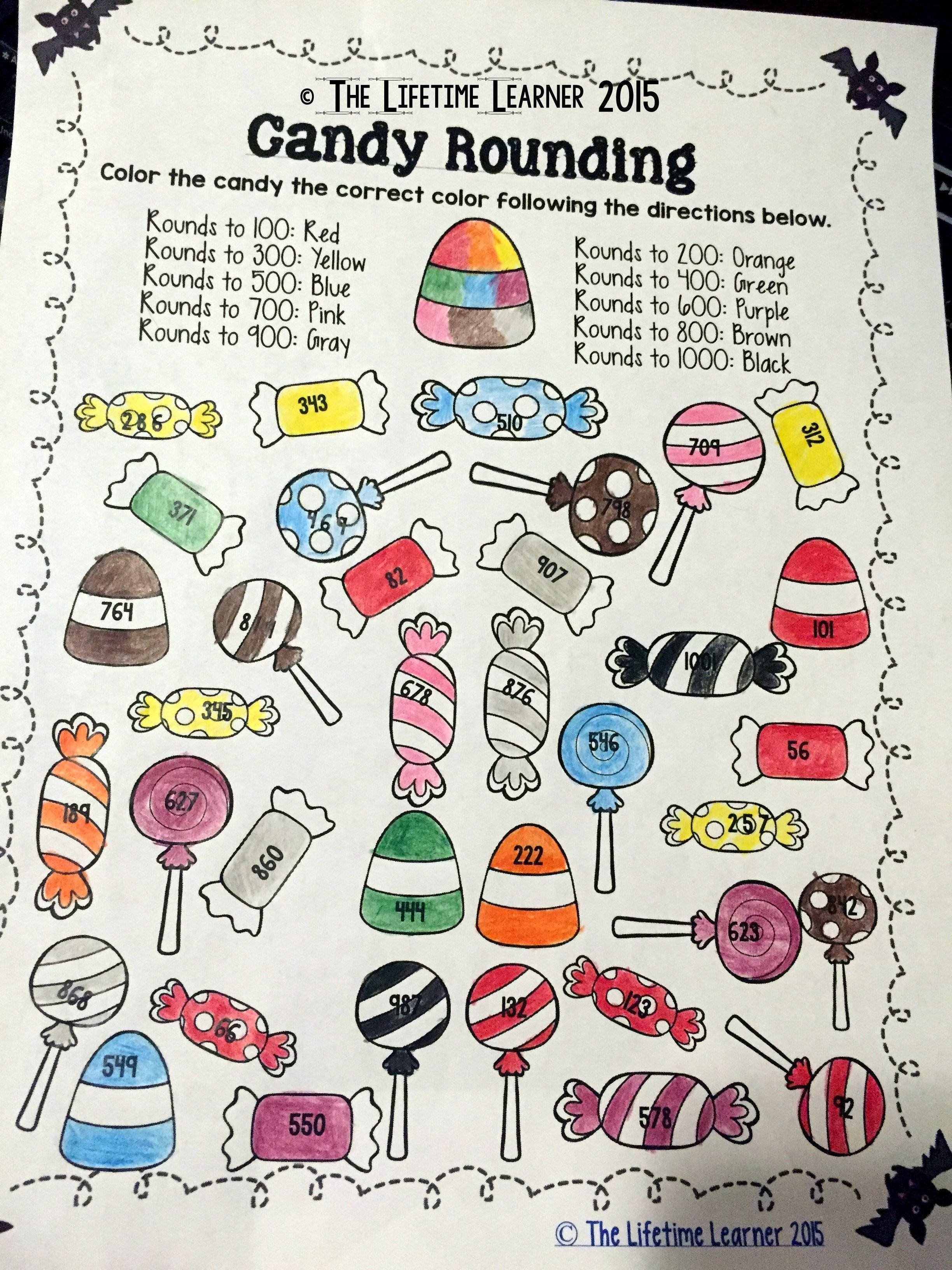 3rd Grade Halloween Math Free Rounding Activity Rounding Worksheets Halloween Worksheets Halloween Worksheets Free [ 3264 x 2448 Pixel ]
