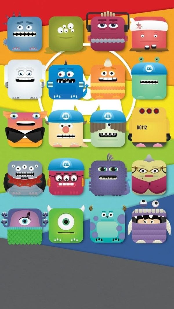 For the Pixar Fans Monsters Inc iPhone5 Wallpaper