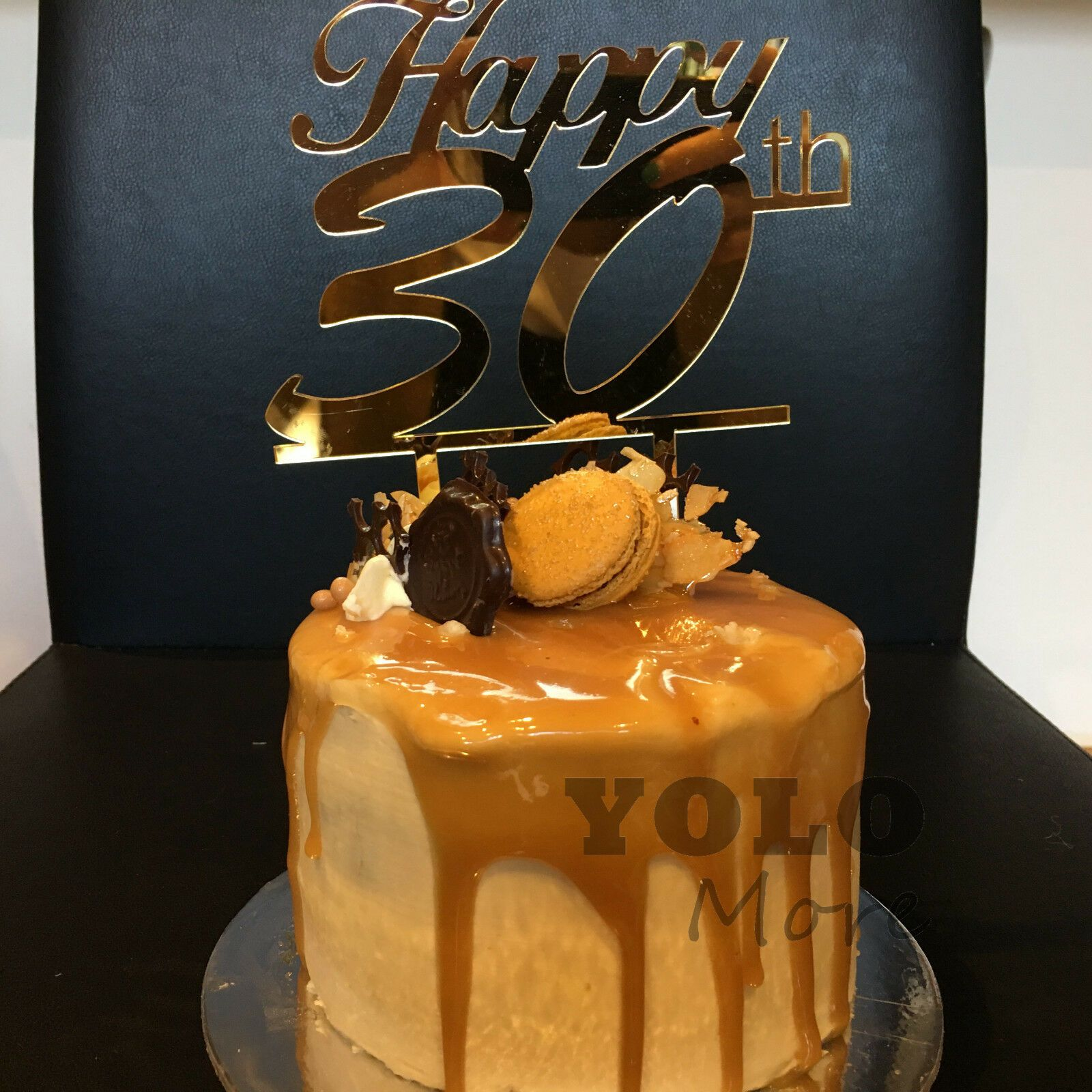 Details about happy 30th birthday acrylic cake topper gold
