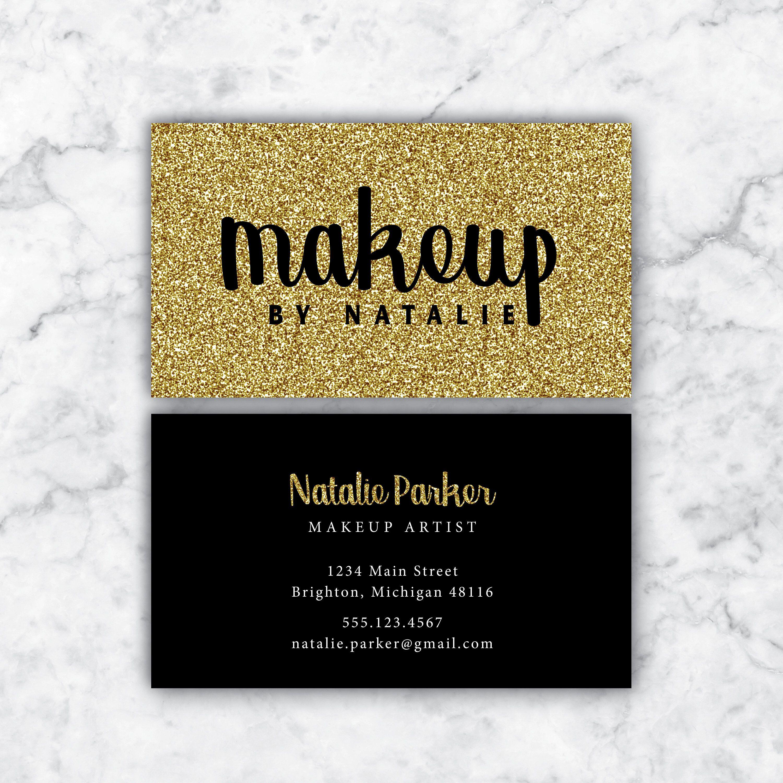 Business Cards Makeup Artist Makeup Business Cards Black Etsy Makeup Business Cards Hairstylist Business Cards Business Cards