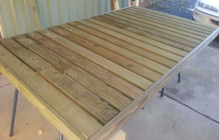 Portable Wooden Decks : Build your own deck ground level and portable patio