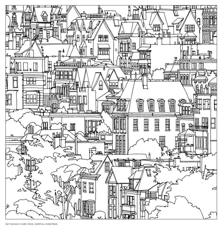 San Francisco Steve McDonalds Colouring Book Fantastic Cities A Of Amazing