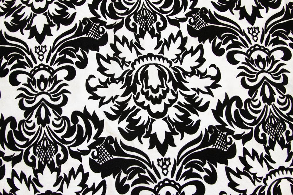40 yards Flocking Taffeta Fabric Roll - Black & White