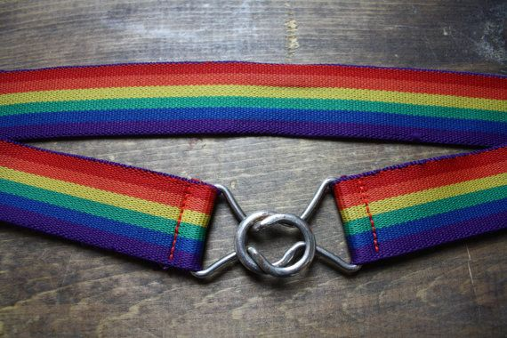 Vintage 1980s rainbow belt / retro accessories/ hipster  adult teen child via Etsy
