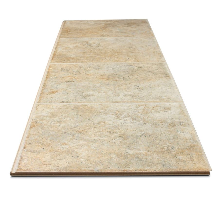 Shop style selections 13 in w x 427 ft l tuscany stone tile look shop style selections tuscany stone embossed laminate flooring at lowes canada find our selection of laminate flooring at the lowest price guaranteed with dailygadgetfo Images