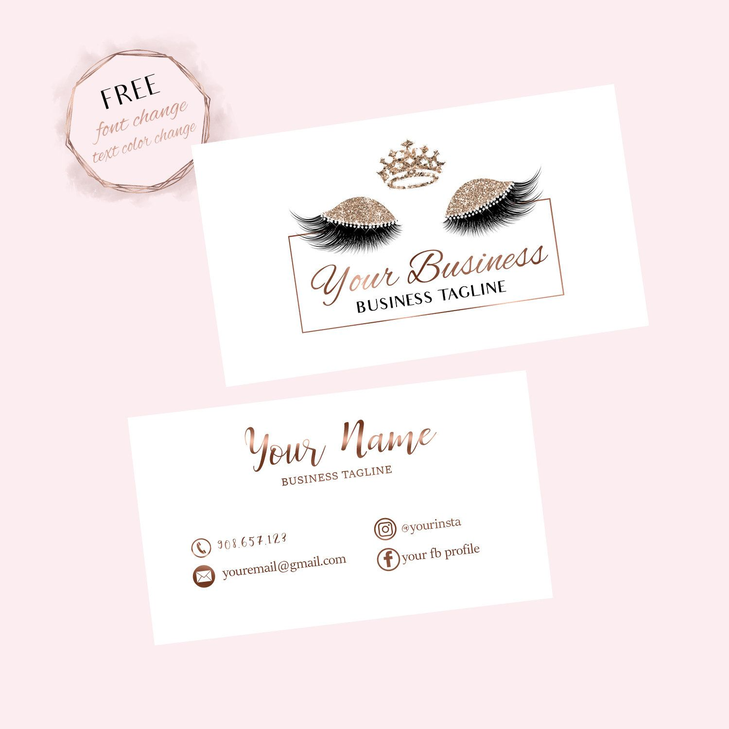 Lashes Business Card Eyelash Business Card Makeup Business Card Makeup Artist Busine Makeup Business Cards Makeup Artist Business Cards Salon Business Cards