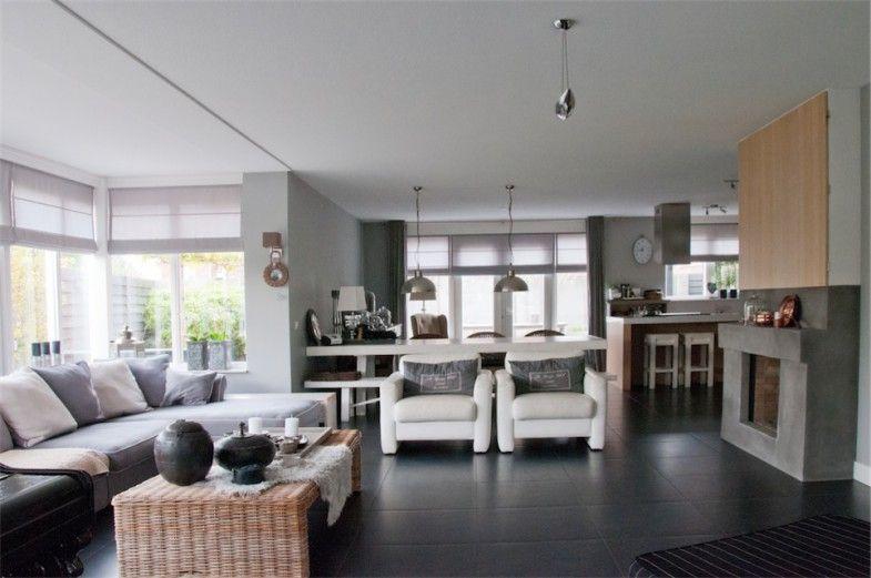 Landelijke woonkamer woonkamer pinterest huis idee n for Landelijke woonkamer ideeen