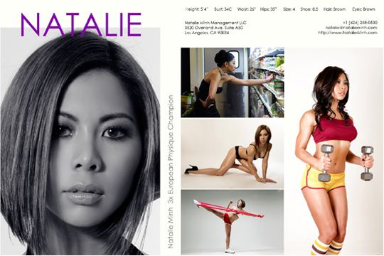 Natalie also offers model comp card design services using the best ...