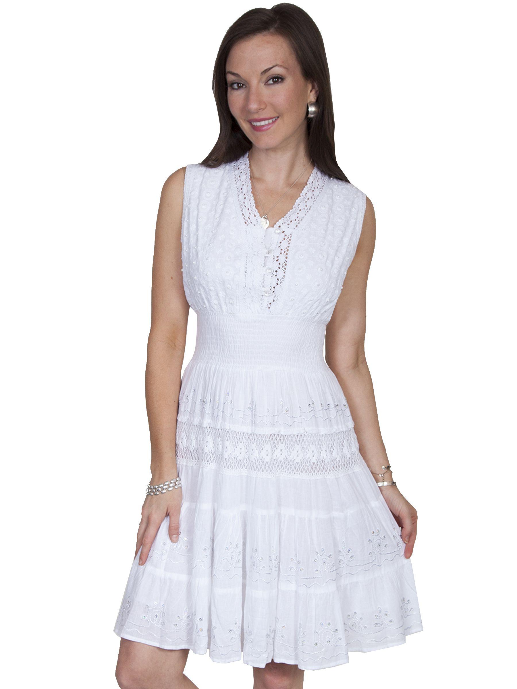 Cantina Collection Ladies Sleeveless Crochet Sundress White Western Dresses Crochet Lace Dress Dresses [ 2400 x 1800 Pixel ]
