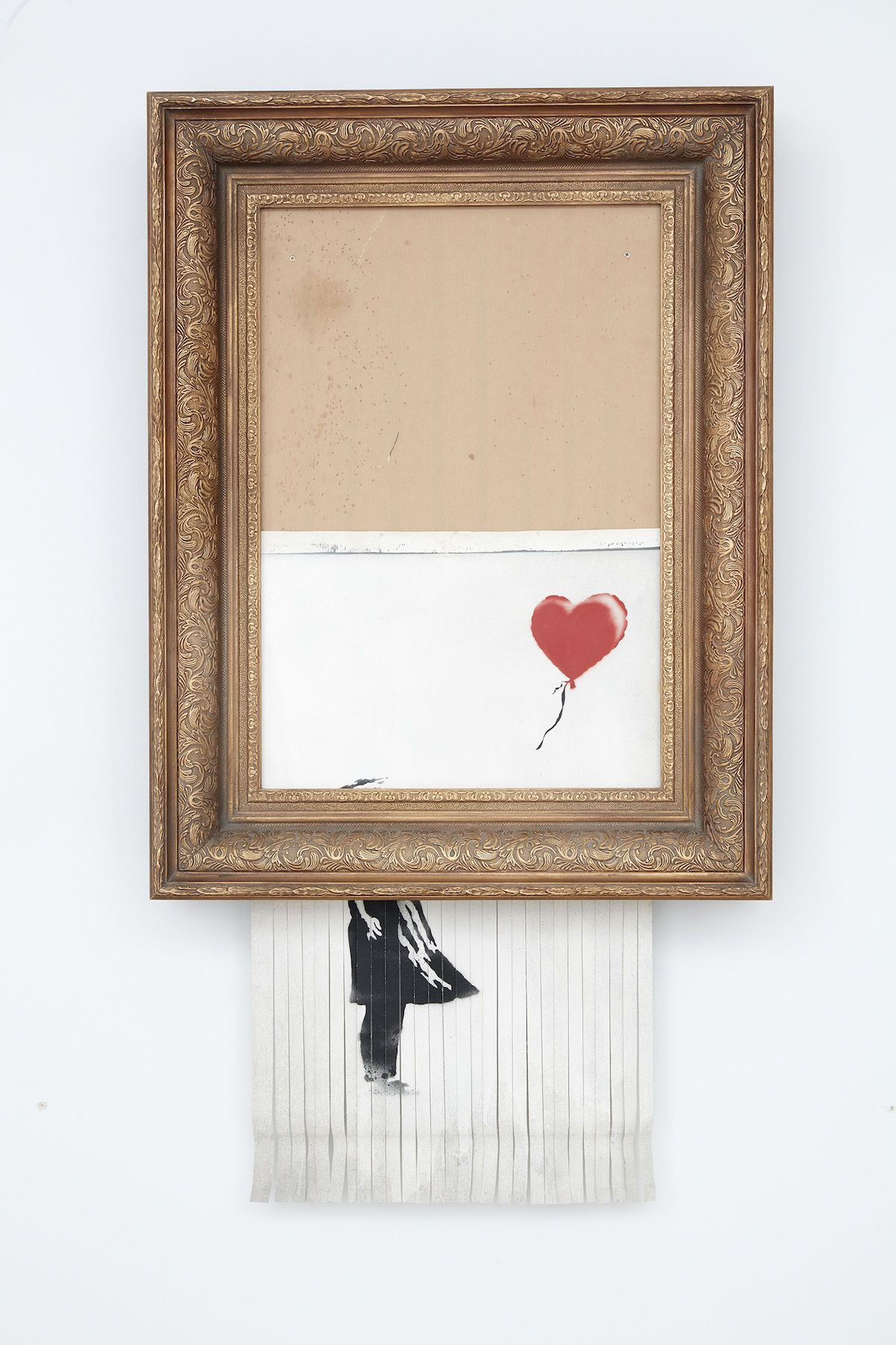 Banksy Self-destructs after Selling for $1.3 Million at Sotheby's #banksyart