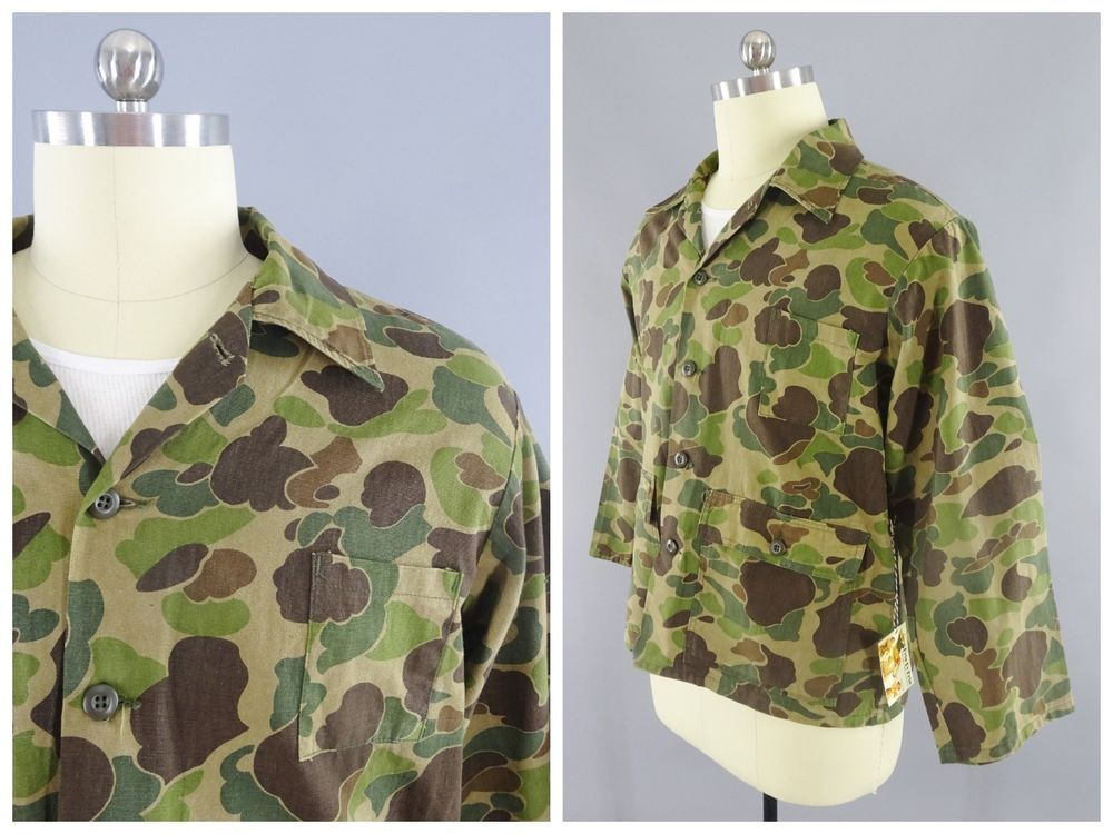 6ad15b8c923e4 Vintage Ranger Duck Hunter Pattern Frogskin Camo Camouflage Hunting Shirt  Sz XL #Ranger #ButtonFront