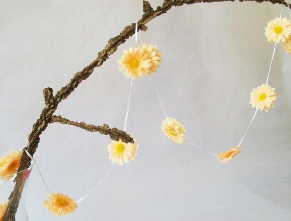 orange daisy garland
