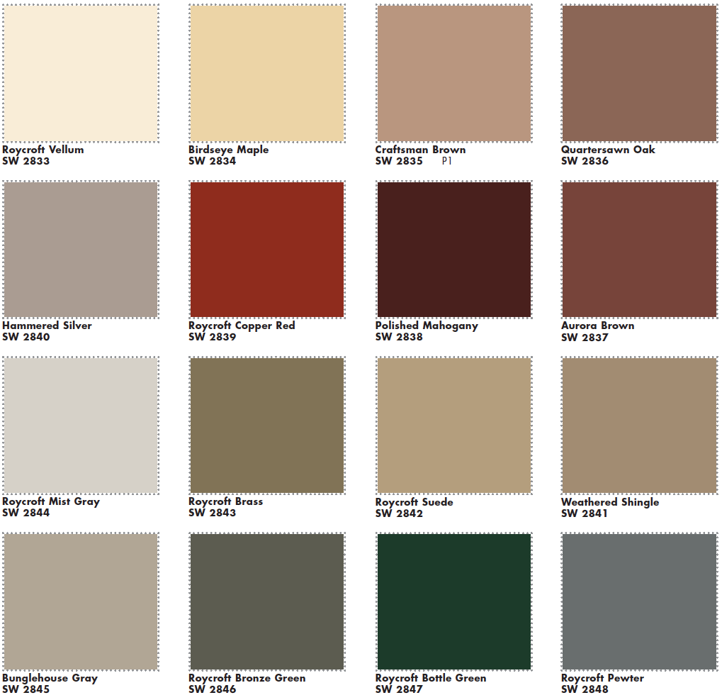 Sherwin Williams Roycroft Exterior Colors Same Colors Used In