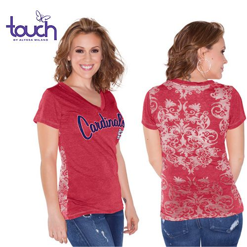 St. Louis Cardinals Women's Audrey T-Shirt by touch by alyssa milano - MLB.com Shop
